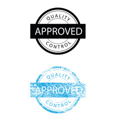 Approved quality control sign stamp