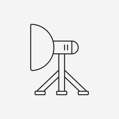 camera light stand line icon