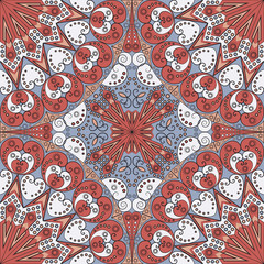 Acrylic Prints Moroccan Tiles Abstract patterned background