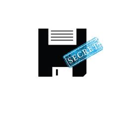Stamp secret floppy disk