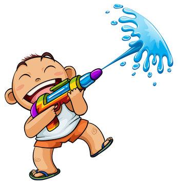 songkran  water  kid  thailand toy  culture
