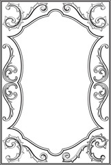Baroque ornate frame