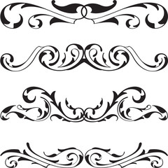 Divide victorian cool design elements set