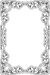 Victorian art ornate scroll frame
