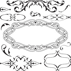 Victorian cool design elements set