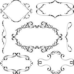 Victorian design elements set