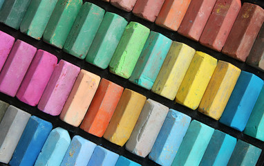Set of color chalks