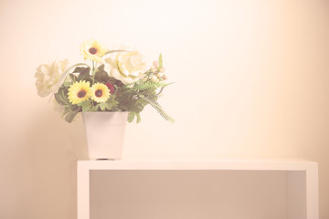 Flower bouquet on rack - vintage style.