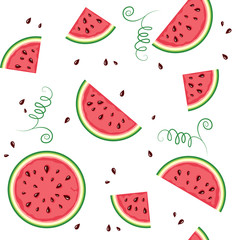 seamless pattern from watermelon.
