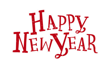 Happy New Year. Lettering