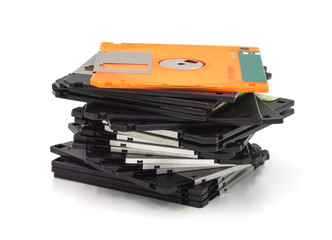 Floppy disk isolated on white background.