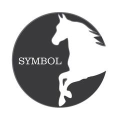 HORSE symbol illustration vector