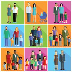 Familien, Eltern, Paare