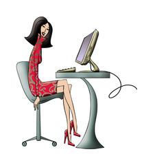Fashion Computer Girl