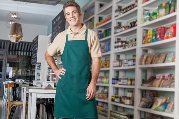 man working as a salesman
