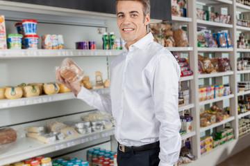 man shopping food