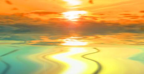 Photo sur Plexiglas Jaune de seuffre Beautiful landscape