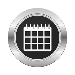 Calendar icon  silver button
