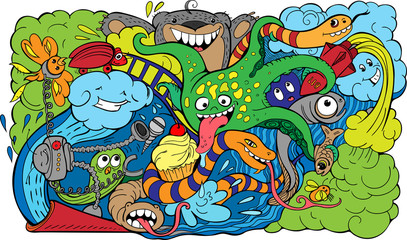 crazy sea-life creatures having fun 2
