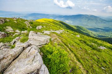 white boulders on the hillside