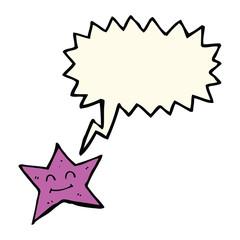 cartoon star character with speech bubble