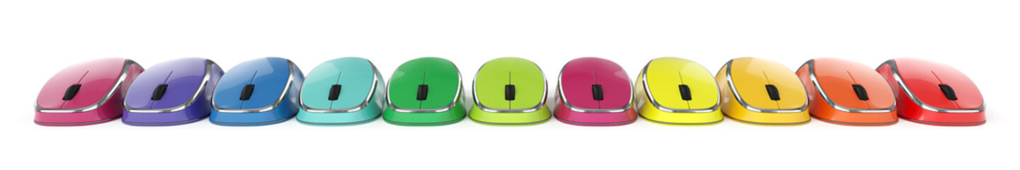Colorful computer mouse set