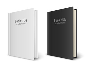 Books templates with white and black covers. Eps10 vector