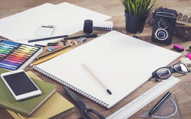 Sketchbook template - mockup