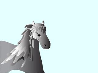 The spectacular horse mane homemade farm animal gradient