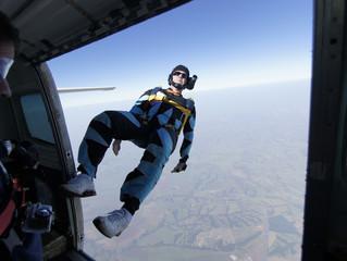 Skydive back exit