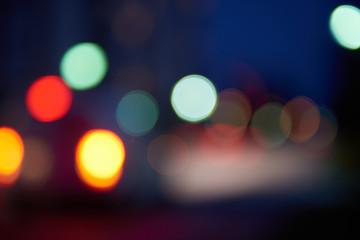 blured treffic street lights Fotomurales