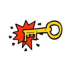 cartoon old key