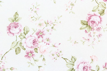 Rose on fabric background