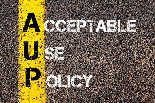 Business Acronym AUP as Acceptable Use Policy