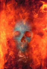 Hellfire With Grinning Skull