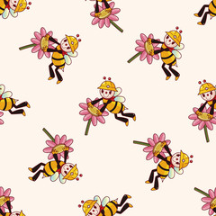 bee cartoon , cartoon sticker icon