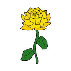 yellow rose cartoon