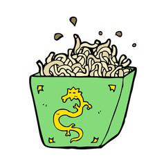 cartoon noodle box