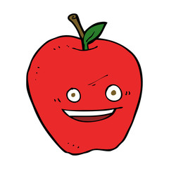 cartoon happy apple