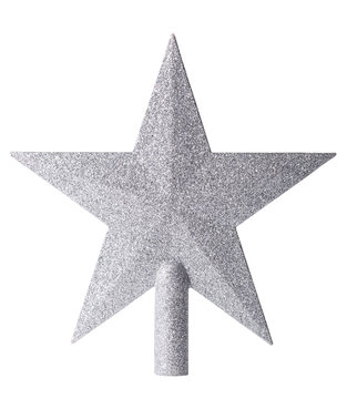 Christmas star with clipping path