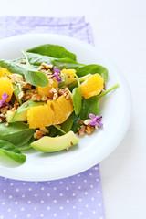 healthy salad with orange and avocado