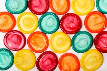 Colorful condoms