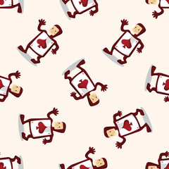 alice in wonderland ,seamless pattern