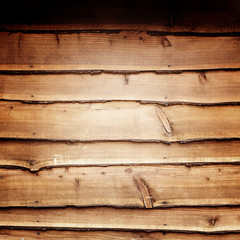 Wooden wall background or texture and shadow