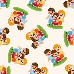 family ,seamless pattern
