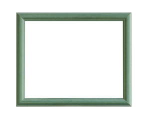 Wooden picture frame (with clipping path) isolated on white