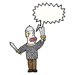 cartoon medieval soldier