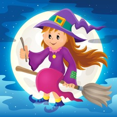 Cute witch theme image 2