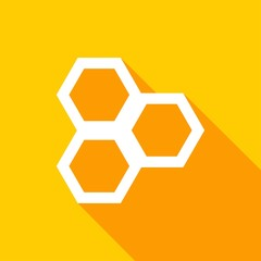 honeycomb Icon with a long shadow