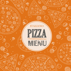 Pizza sketch background